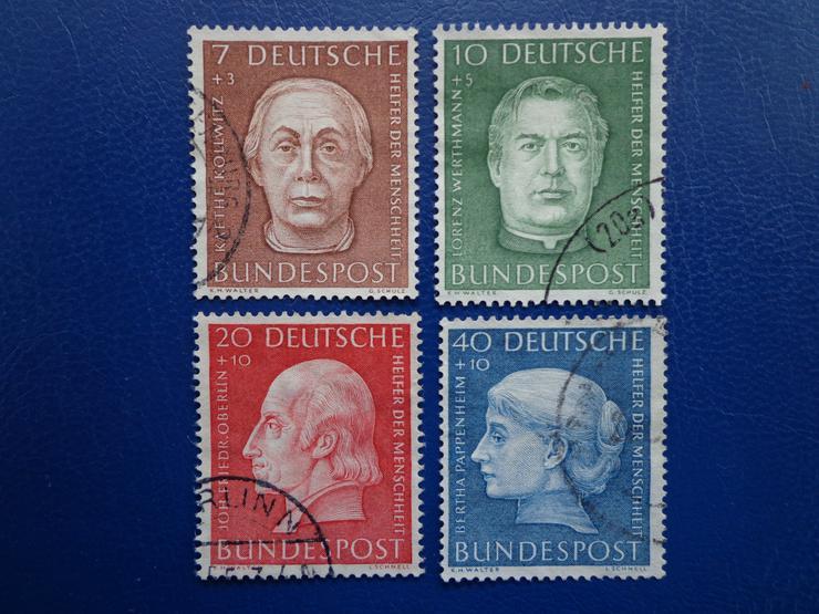 """1 Satz Wohlfahrtsmarken """"Helfer der Menschheit"""" von 1954, BRD, Michel-Nr. 200-203"""