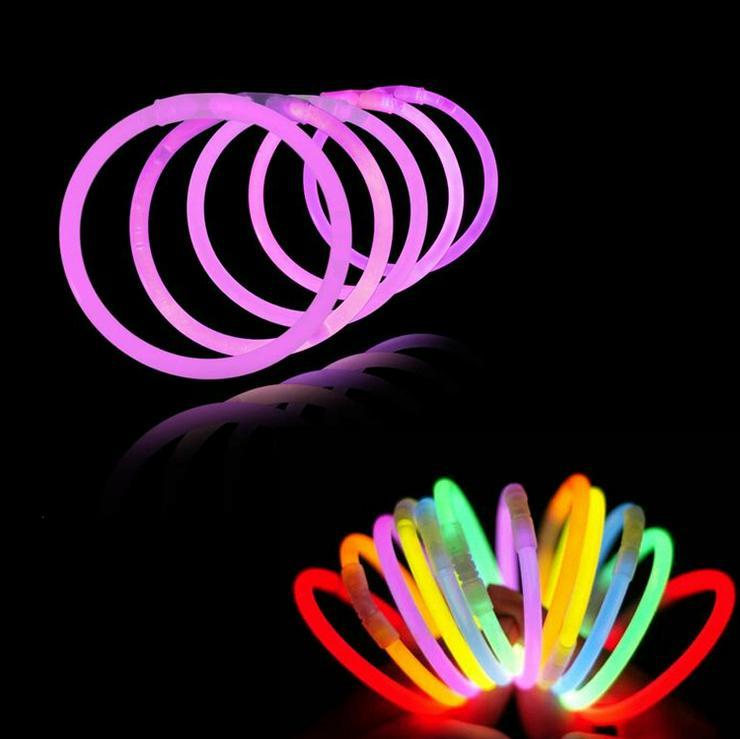 Bild 2: 100 Premium Knicklichter Party Set Armbänder Pack Glow Sticks Leuchtstäbe hell