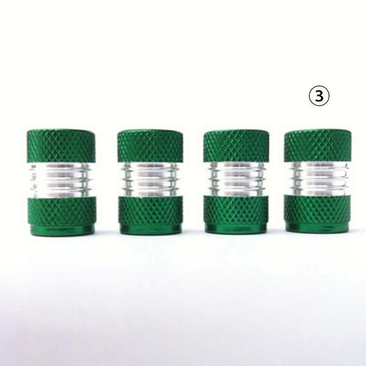 Alu Ventilkappen in Grün für Auto PKW LKW MOTORRAD 4 Stück *NEU* - Zubehör - Bild 1