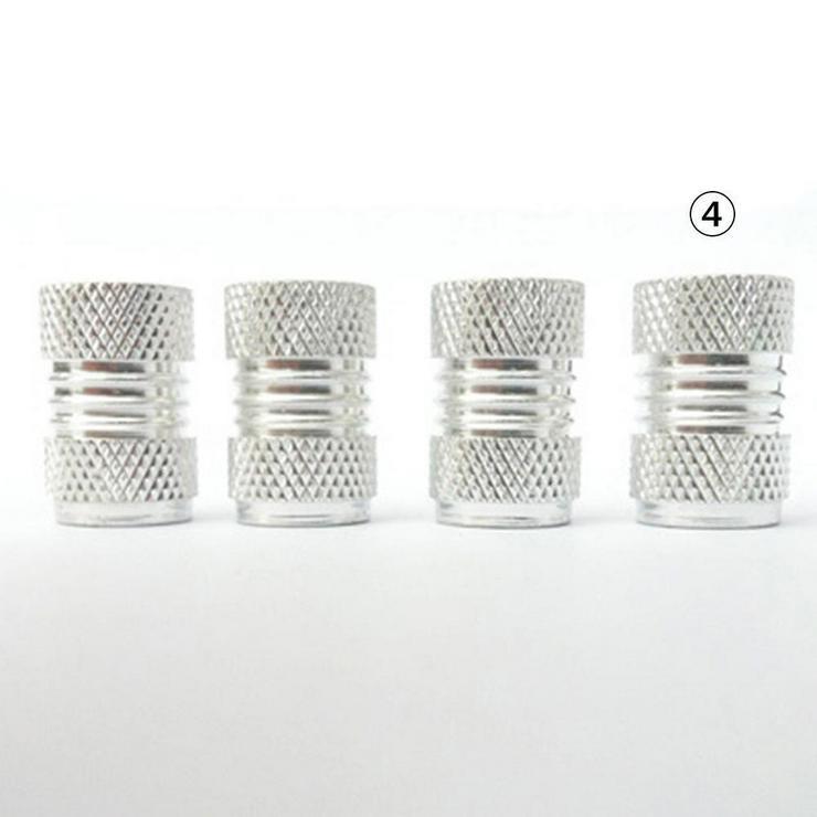 Alu Ventilkappen in Silber für Auto PKW LKW MOTORRAD 4 Stück *NEU* - Zubehör - Bild 1