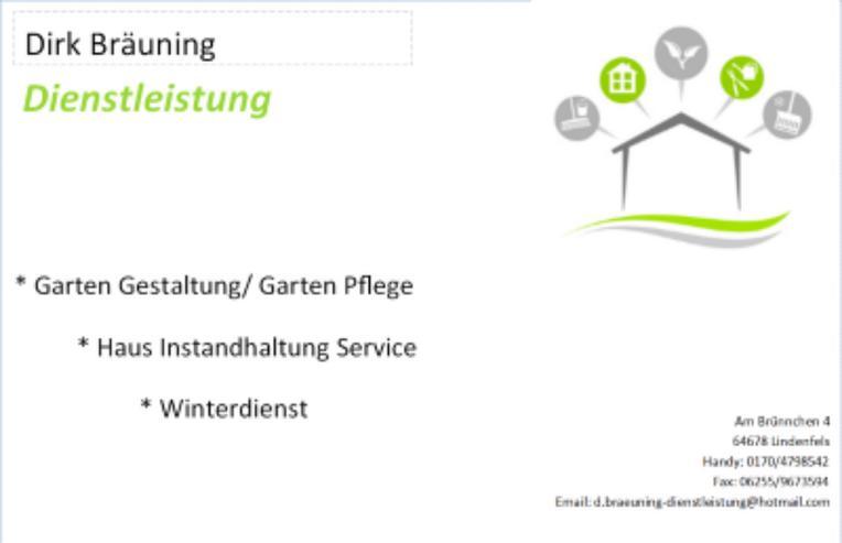 Dirk Bräuning Dienstleistung
