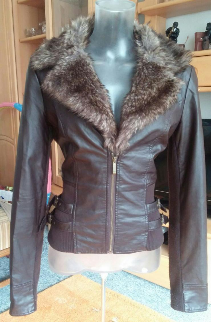 Damen Jacke Leder Imitat Fell Gr.38 Tally Weijl