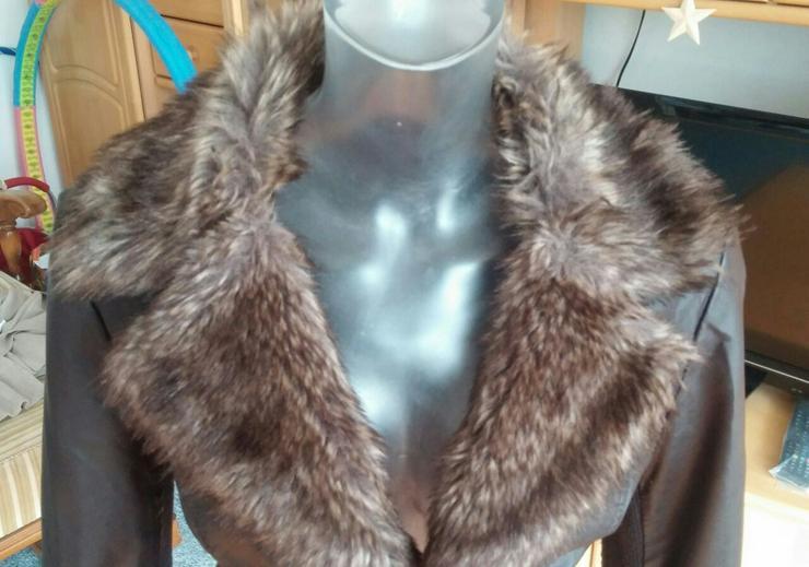 Damen Jacke Leder Imitat Fell Gr.38 Tally Weijl in Elsfleth