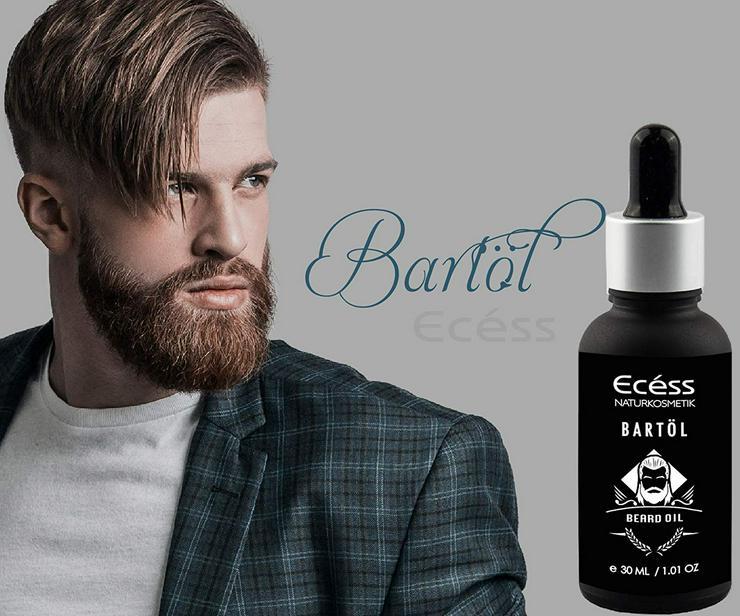 Bild 2: Ecéss 30ml Bart Öl - Hochwertige Rohstoffe mit Echte Feigenkernöl 100% kaltgepresst Elixir Beard