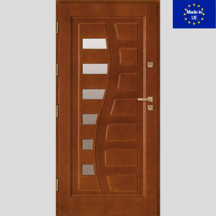 Tür DZ9 Holzaußentüren Haustür Eingangstür Holztür 60/70/80/90/100 6 Farben - Türen - Bild 1