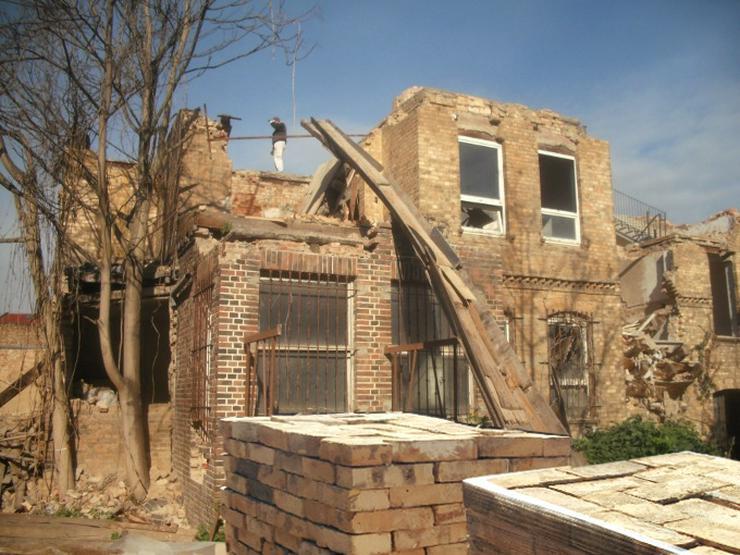 Bild 5:  Antike Ziegelsteine rustikale Klinker Verblender alte Mauersteine historisches Mauerwerk mediterran