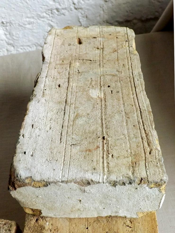 Bild 4:  Antike Ziegelsteine rustikale Klinker Verblender alte Mauersteine historisches Mauerwerk mediterran