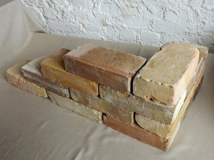 Bild 3:  Antike Ziegelsteine rustikale Klinker Verblender alte Mauersteine historisches Mauerwerk mediterran