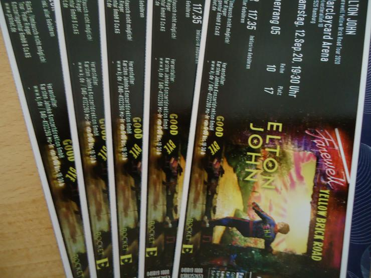 5 Tickets Elton John in Hamburg 12.09.2020