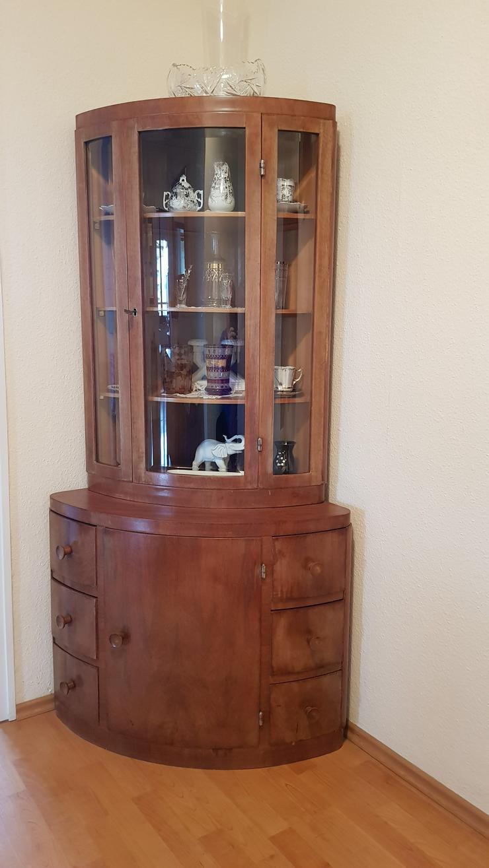 Sehr schöner antiker Eckschrank mit Glastür zu verkaufen - Kommoden & Schränke - Bild 1