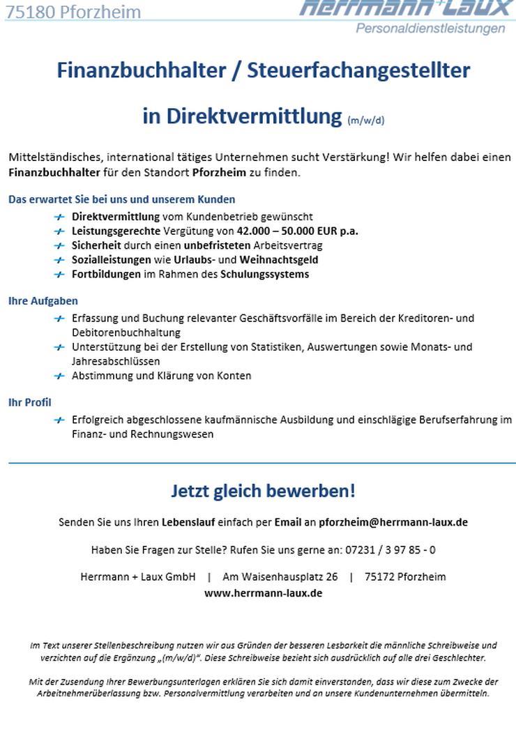 Finanzbuchhalter / Steuerfachangestellter in Direktvermittlung (m/w/d)