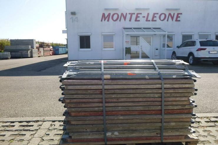 Bild 4: Layher Gerüst Geländer Stahlboden Bordbrett Stahlböden 1,09m