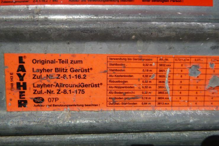 Bild 5: Layher Gerüst Geländer Stahlboden Bordbrett Stahlböden 1,09m