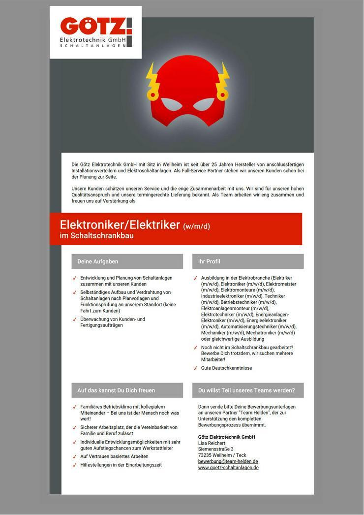 Elektroniker/Elektriker (m/w/d) im Schaltschrankbau