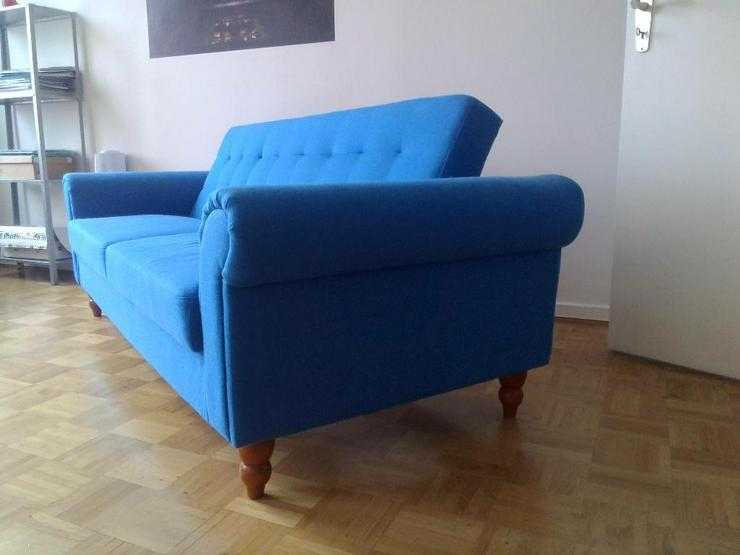 Sofa blau, 3-Sitzer