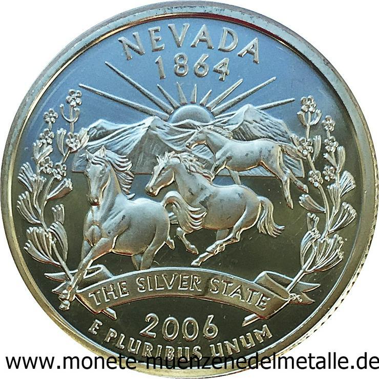 Usa Quarter Dollar Nevada Silber Münze