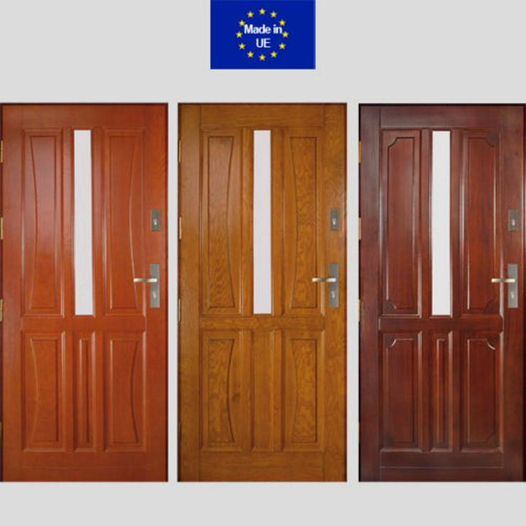Tür DZ5/DZ6/DZ7 Holzaußentüren Haustür Eingangstür 60/70/80/90/100 6 Farben  - Türen - Bild 1