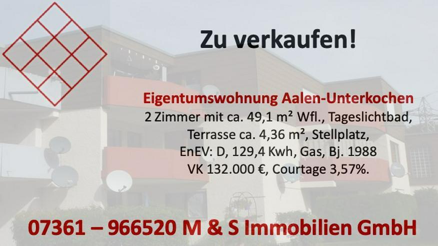 2-Zimmerwohnung in Aalen-Unterkochen  - Wohnung kaufen - Bild 1
