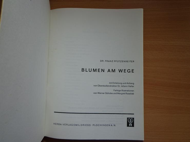 """Bild 2: Sammelbilder mit Album: """"Blumen am Wege"""", HERBA-Verlag, Neuzustand"""