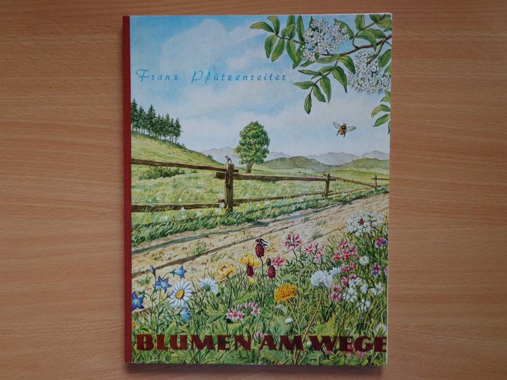 """Sammelbilder mit Album: """"Blumen am Wege"""", HERBA-Verlag, Neuzustand"""