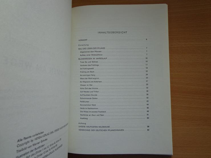 """Bild 5: Sammelbilder-Album """"Blumen am Wege"""", HERBA-Verlag, Neuzustand"""