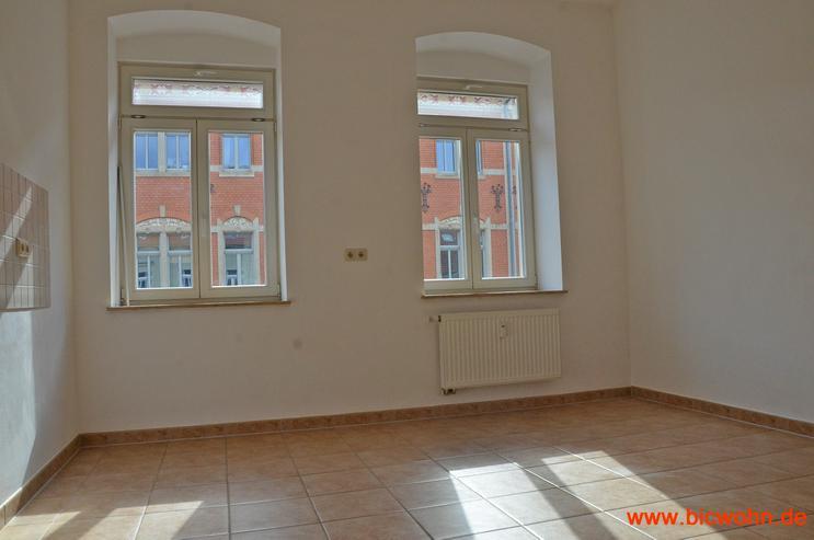 Bild 2: Balkon + Wohnküche + Laminat 2-Raum-Wohnung in Dresden-Neustadt