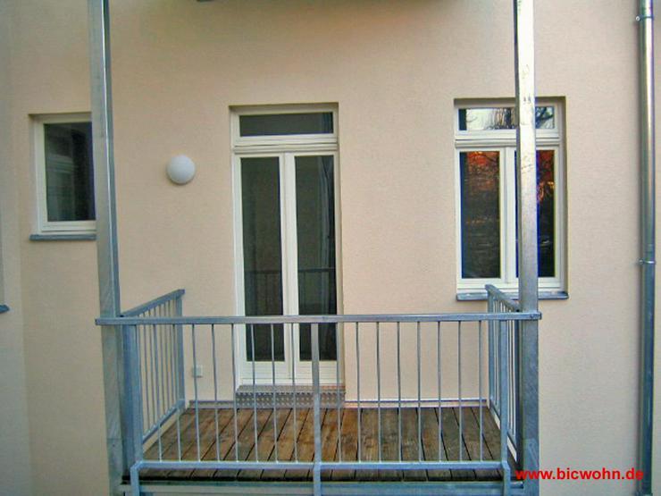 Bild 4: Balkon + Wohnküche + Laminat 2-Raum-Wohnung in Dresden-Neustadt
