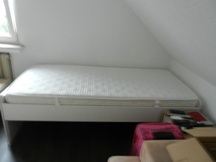 Bild 2: Bett 90x200cm, 1Jahr alt, 2x benutzt, Farbe weiß