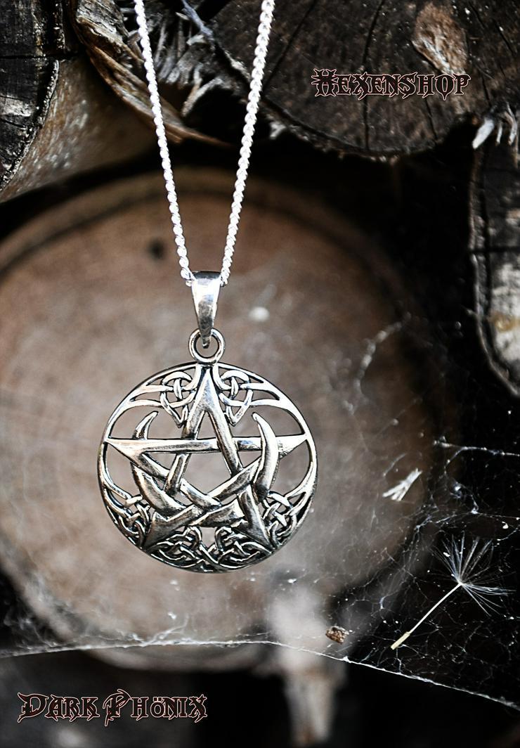 Pentagramm mit Mond - Anhänger - Bild 1