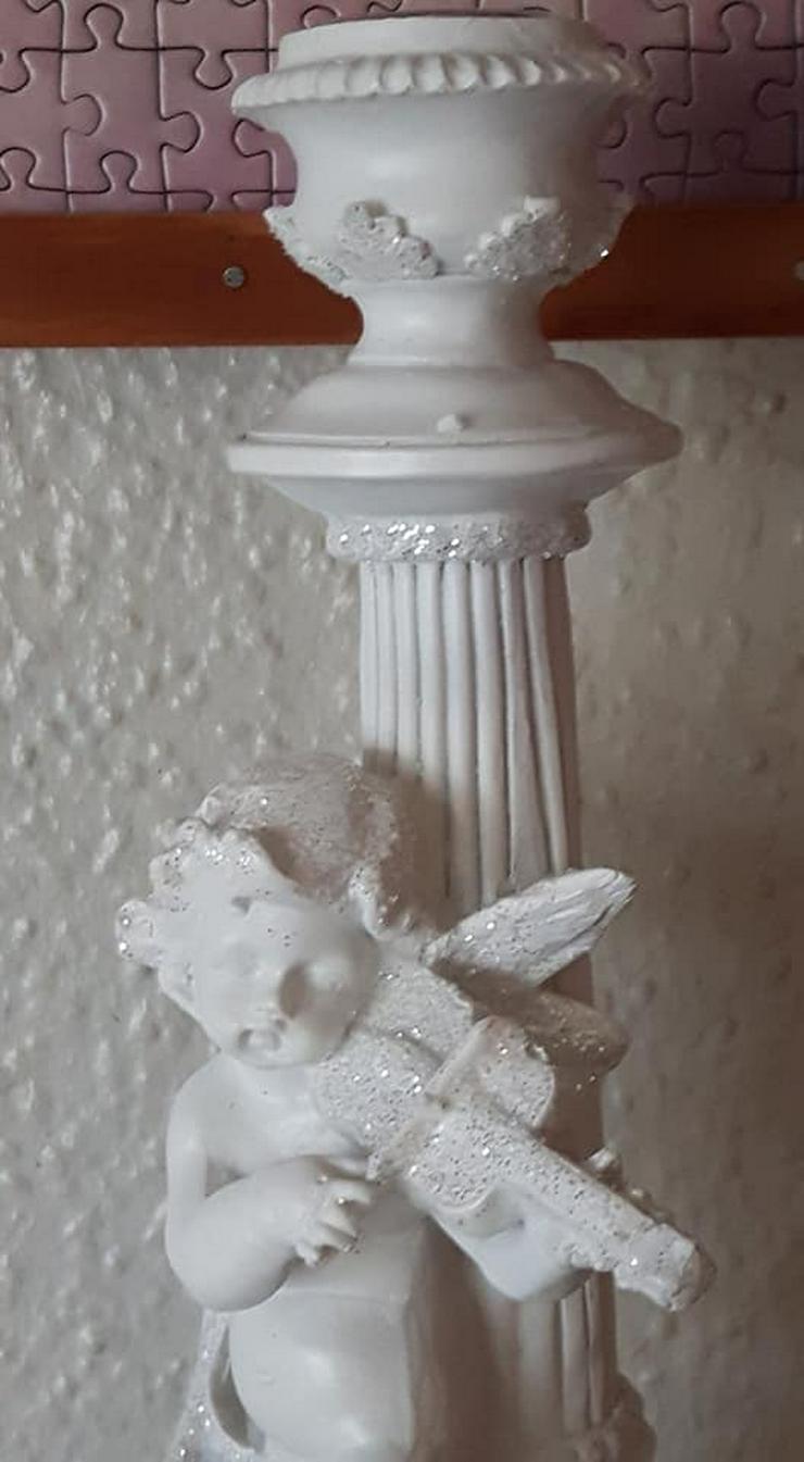 Bild 6: Wunderschöner Engel mit Geige Kerzenständer ca 29cm gross