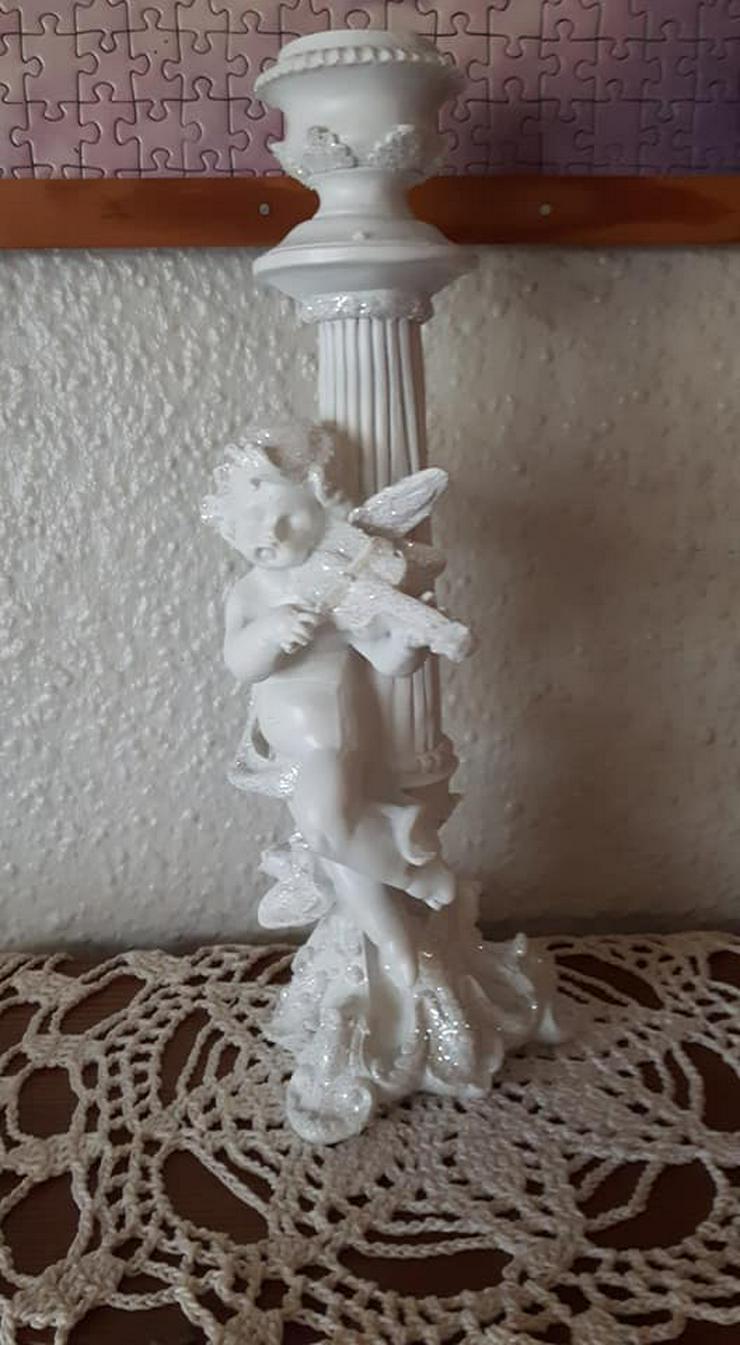 Bild 5: Wunderschöner Engel mit Geige Kerzenständer ca 29cm gross