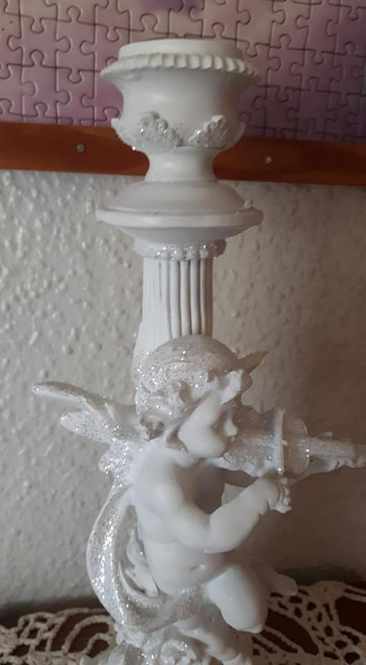 Bild 3: Wunderschöner Engel mit Geige Kerzenständer ca 29cm gross