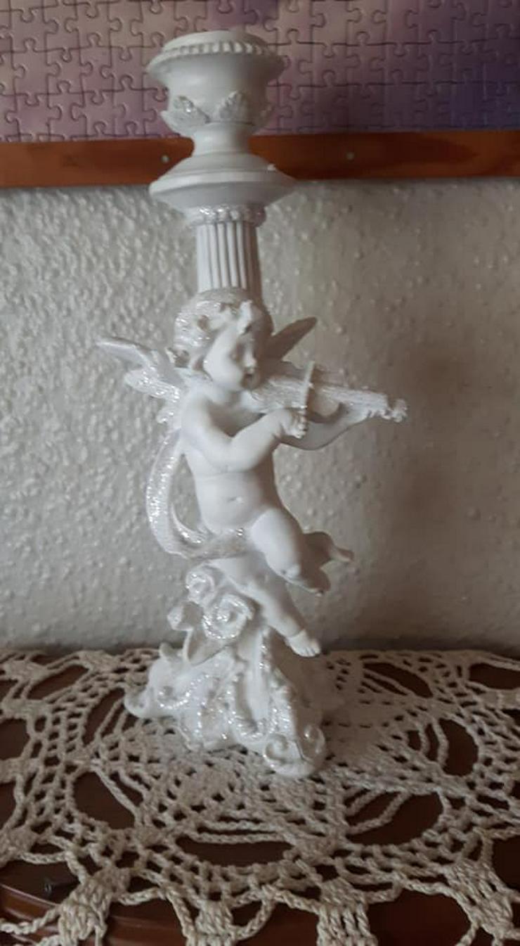 Bild 2: Wunderschöner Engel mit Geige Kerzenständer ca 29cm gross
