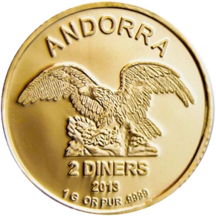 Andorra 2 Diner Eagle Gold Münze