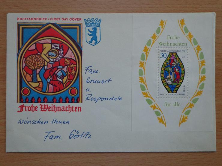 Weihnachtsblock 1976, DBP Berlin, Michel-Nr. 528, ungestempelt, FDC