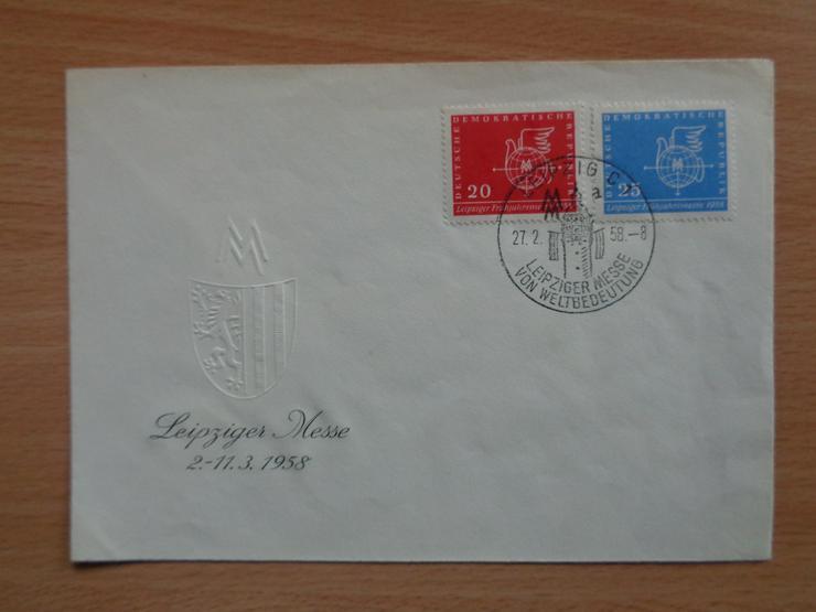FDC: Leipziger Frühjahrsmesse 1958, DDR, Michel-Nr. 618+619