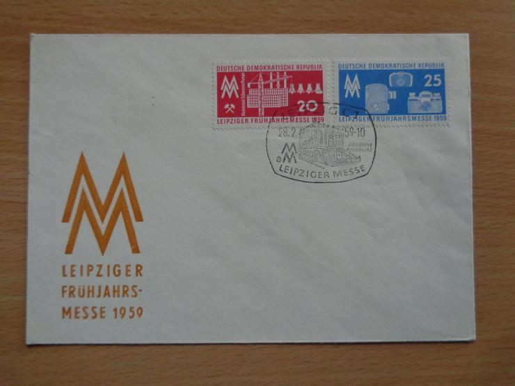 FDC: Leipziger Frühjahrsmesse 1959, DDR, Michel-Nr. 678+679