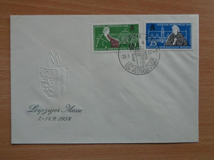 FDC: Leipziger Herbstmesse 1958, DDR, Michel-Nr. 649 + 650