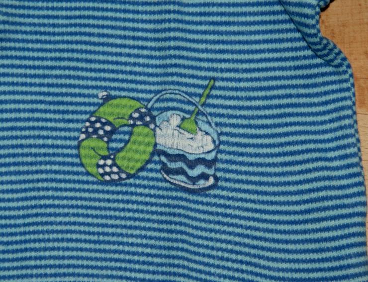Bild 2: NEU - Blaues Sweat-Shirt - Größe 74 - Pullover - Polo-Stil