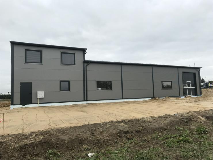 Bild 4: Stahlhalle Lagerhalle Gewerbehalle Werkstatthalle mit Beuro-/Wohnbereich 27m x 12m