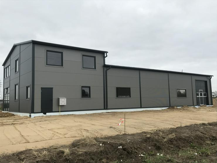Bild 3: Stahlhalle Lagerhalle Gewerbehalle Werkstatthalle mit Beuro-/Wohnbereich 27m x 12m