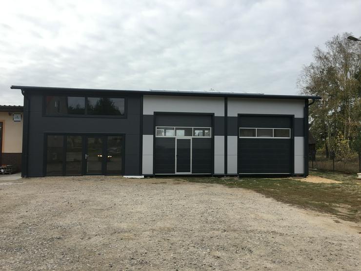 Bild 2: Stahlhalle Lagerhalle Gewerbehalle mit Beuro 16m x 12m