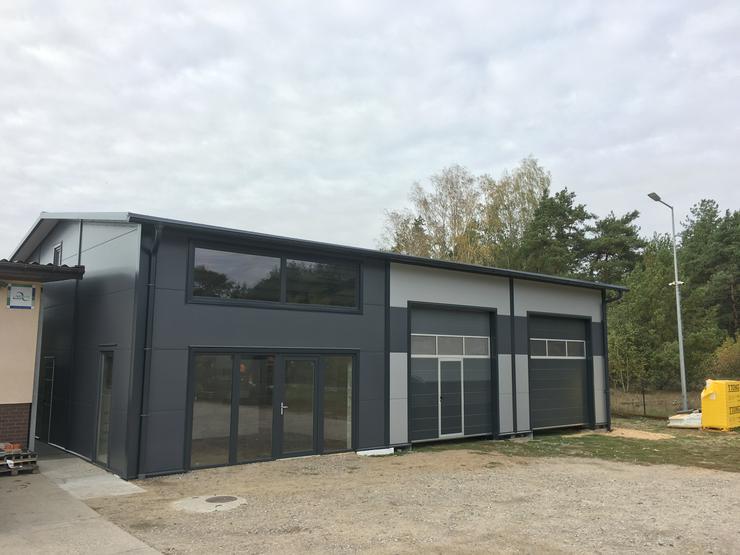 Stahlhalle Lagerhalle Gewerbehalle mit Beuro 16m x 12m - Büro & Gewerbeflächen kaufen - Bild 1
