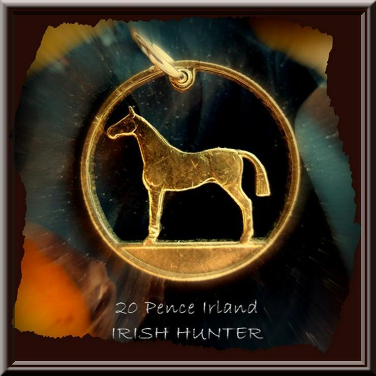 Handgesägte Münze: IRLAND, PFERD (irish hunter) Münzanhänger