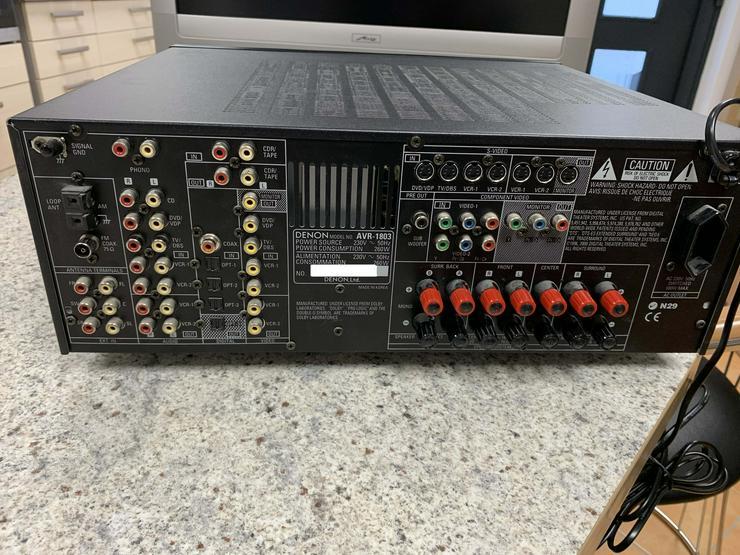 Bild 2: Denon Surround Receiver AVR 1803