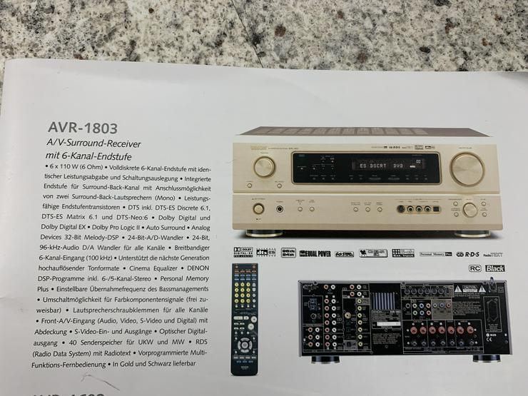 Bild 4: Denon Surround Receiver AVR 1803