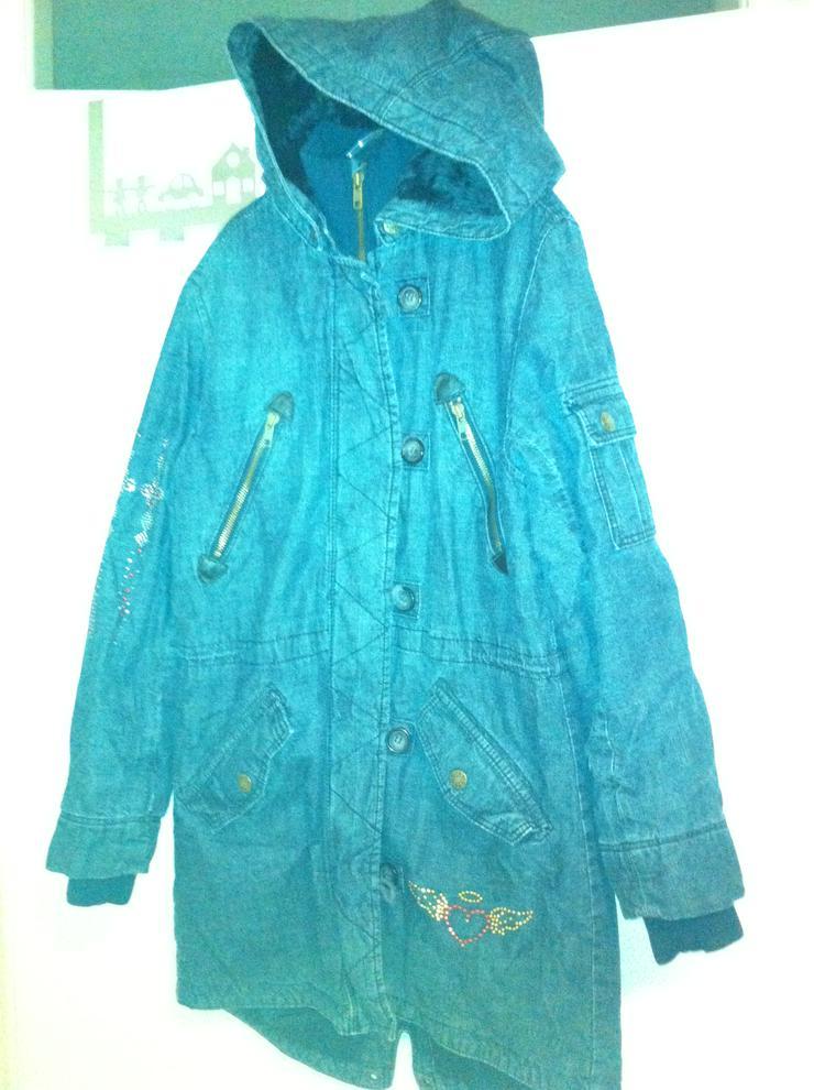 Jeans-Wintermantel Gr. 158