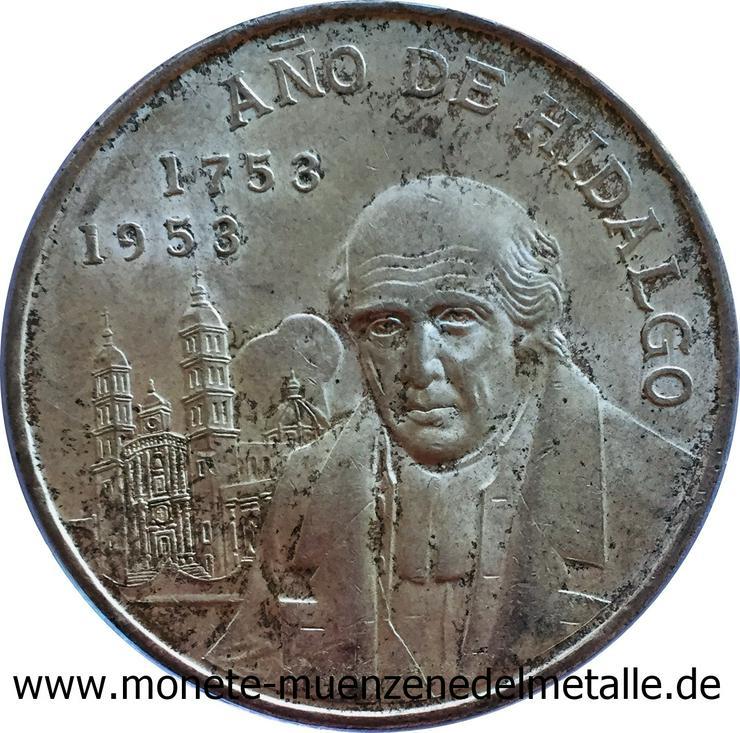 Mexiko 5 Pesos Miguel Hidalgo Silber Münze