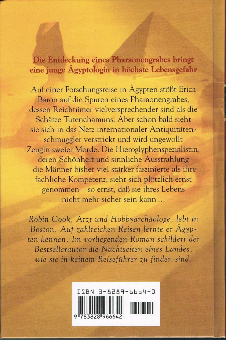 Bild 2: Der Fluch der Sphinx. Roman von Robin Cook.