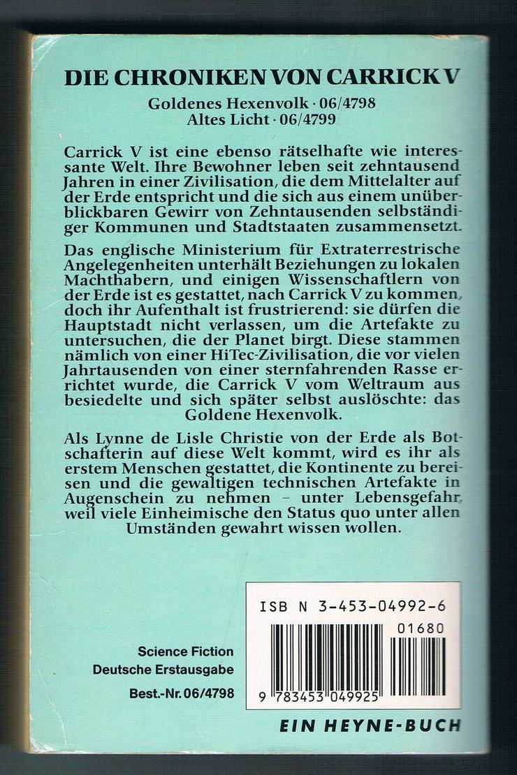 Bild 4: Goldenes Hexenvolk und Altes Licht. 2 Fantasy-Romane von Mary Gentle.